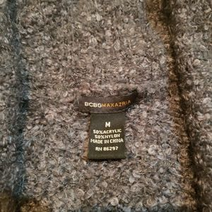 BCBGMaxAzria Sweaters - BCBG Max Azria Fuzzy Gray V Neck Sweater